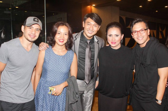 from right: Franco Laurel, Ayen Munji-Laurel, Roeder Camañag, Che Ramos Cosio and Chrome Cosio. Jesse Lucas FULL RANGE is part of the TRIPLE THREATS series The composers at CCP Tanghalang Aurelio Tolentino last August 20, 2015. Photo by Jude Bautista