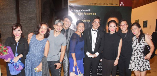 from left: Liesel Batucan, Che Ramos-Cosio, Chrome Cosio, Roeder Camañag, Banaue Miclat-Janssen, Jesse Lucas, Ayen Munji Laurel, Franco Laurel and Tex Ordoñez. Jesse Lucas FULL RANGE is part of the TRIPLE THREATS series-the composers at CCP Tanghalang Aurelio Tolentino last August 20, 2015. Photo by Jude Bautista
