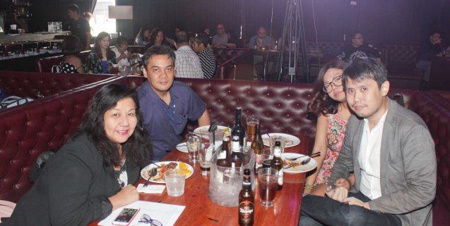 from left: PUPIL Mgr Dang Cabuhat, Market Monitor Ent. Editor Alvin Dacanay, Liz Timbreza and Philbert Dy. MasterChef Asia visited URBN Bar & Kitchen 28th St, Bonifacio Global City, Taguig. Photo by Jude Bautista