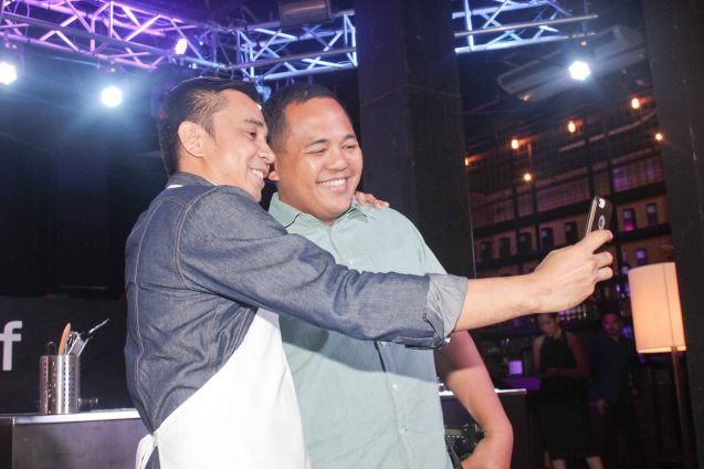 Rico shoots Selfie w friend. MasterChef Asia visited URBN Bar & Kitchen 28th St, Bonifacio Global City, Taguig. Photo by Jude Bautista