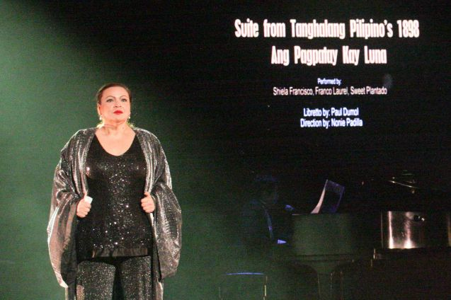 Sheila Francisco; Jesse Lucas FULL RANGE is part of the TRIPLE THREATS series-the composers at CCP Tanghalang Aurelio Tolentino last August 20, 2015. Photo by Jude Bautista