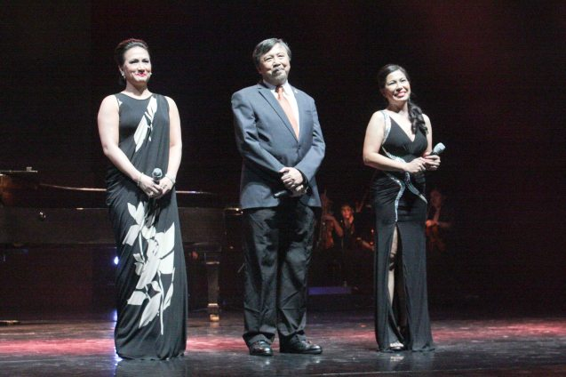 from right: Tex Ordoñez, Bodjie Pascua and Ayen Munji Laurel. Jesse Lucas FULL RANGE is part of the TRIPLE THREATS series-the composers at CCP Tanghalang Aurelio Tolentino last August 20, 2015. Photo by Jude Bautista