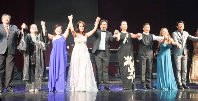 from left: Bodjie Pascua, Sheila Francisco, Liesl Batucan, Irma Adlawan, Jesse Lucas, Ayen Munji Laurel, Franco Laurel, Sweet Plantado & Roeder Camañag. Jesse Lucas FULL RANGE is part of the TRIPLE THREATS series The composers at CCP Tanghalang Aurelio Tolentino last August 20, 2015. Photo by Jude Bautista