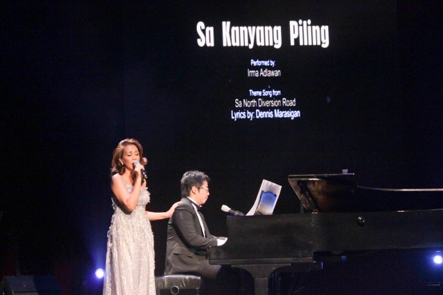 Irma Adlawan sings SA KANYANG PILING w lyrics by hubby Dennis Marasigan. Jesse Lucas FULL RANGE is part of the TRIPLE THREATS series-the composers at CCP Tanghalang Aurelio Tolentino last August 20, 2015. Photo by Jude Bautista / Irma Adlawan stars in Kanakan Balintagos' MGA BUHAY NA APOY directed by Auraeus Solito opening this Friday, October 3, 2015 at the CCP's Tanghalang Aurelio Tolentino.