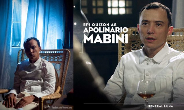 Epy Quizon played Apolinario Mabini in HENERAL LUNA, the official Phil entry to the Oscars. Photo from official HENERAL LUNA fb https://www.facebook.com/Heneral.Luna
