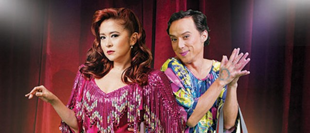 Antoinette Tauz (Lavinia Arguelles) & Epy Quizon (Auntie). BITUING WALANG NINGNING is running at the Newport Performing Arts Theater, Resorts World Manila from October 8, 2015 to January 2016. Photo from Resort's World Manila site: http://www.rwmanila.com/web/bituing-walang-ningning/#