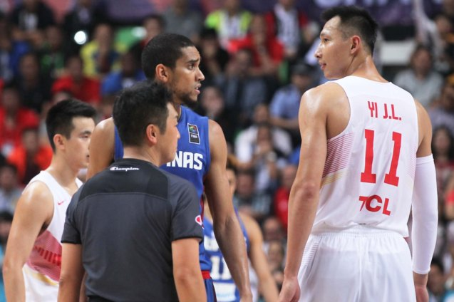 Gabe Norwood is confused by Refs call; FIBA Asia Finals game PHI v CHINA October 3, 2015 at the Changsha Social Work College, Chang Sha, China. Photo from FIBA.com.