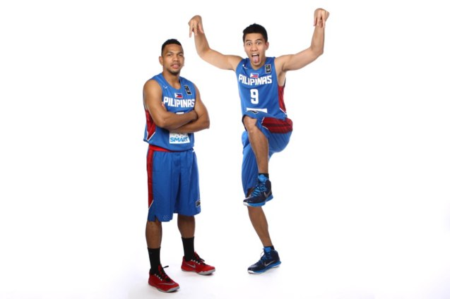 Jayson Castro & John Intal; FIBA Asia Finals game PHI v CHINA October 3, 2015 at the Changsha Social Work College, Chang Sha, China. Photo from FIBA.com.