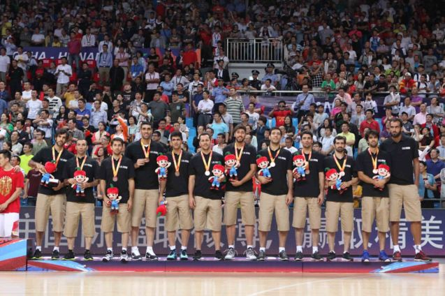 IRAN earns bronze medal; FIBA Asia Finals game PHI v CHINA October 3, 2015 at the Changsha Social Work College, Chang Sha, China. Photo from FIBA.com.