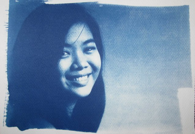 Cyano print portrait; Chris Lucas' photo exhibit AGAINST THE FLOW will run from October 16-31 at the Kamuning Gallery & Café- No. 43 Judge Jimenez Street corner K- 1st Street, Kamuning, Quezon City. Photo from kalyepilipinas.tumblr.com