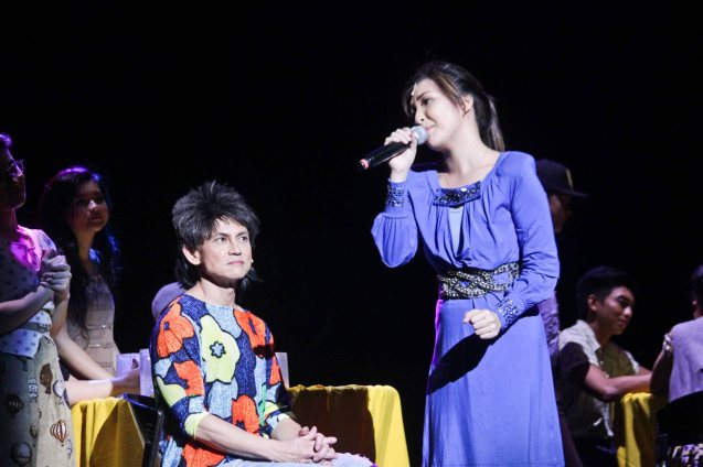 Jon Santos (Auntie) & Cris Villonco (Lavinia Arguelles). BITUING WALANG NINGNING is running at the Newport Performing Arts Theater, Resorts World Manila from October 8, 2015 to January 2016. Photo by Jude Bautista