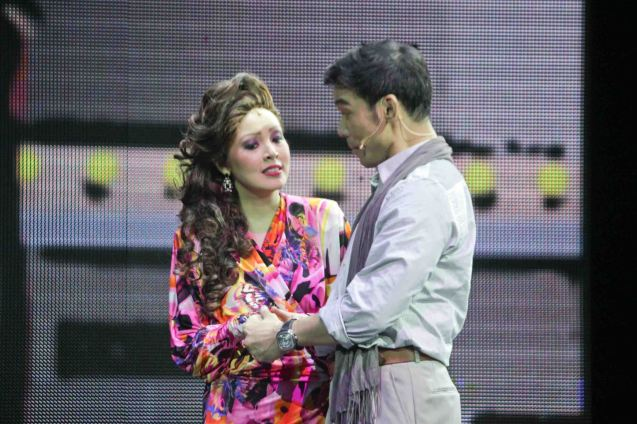 Mark Bautista (Nico Escobar) & Cris Villonco (Lavinia Arguelles). BITUING WALANG NINGNING is running at the Newport Performing Arts Theater, Resorts World Manila from October 8, 2015 to January 2016. Photo by Jude Bautista