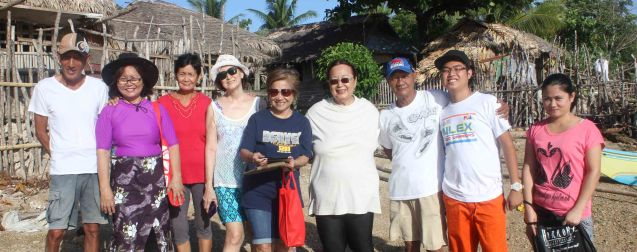 from left: Goody Montenegro, Rose Lizo, Annie Puyo, Beth Javier, Nanette Montenegro, Erlinda Bautista, Jun Montenegro, Sean Panaligan and Mary Jane Agdon. Claveria, Burias-May 18, 2015. Photo by Jude Bautista