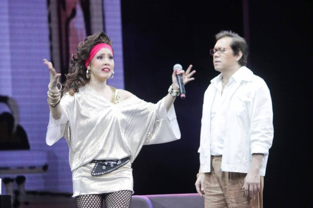Cris Villonco (Lavinia Arguelles) and Michael Stuart Williams (Larry). BITUING WALANG NINGNING is running at the Newport Performing Arts Theater, Resorts World Manila from October 8, 2015 to January 2016. Photo by Jude Bautista