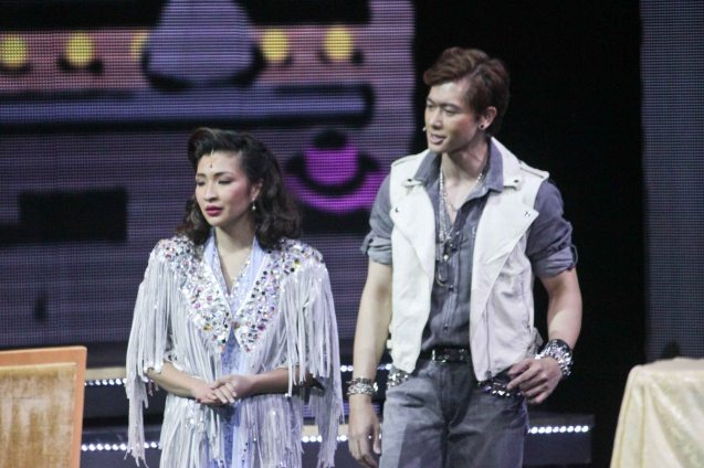 Ronnie Liang (Garrie Diaz) and Monica Cuenco (Dorina Pineda). BITUING WALANG NINGNING is running at the Newport Performing Arts Theater, Resorts World Manila from October 8, 2015 to January 2016. Photo by Jude Bautista