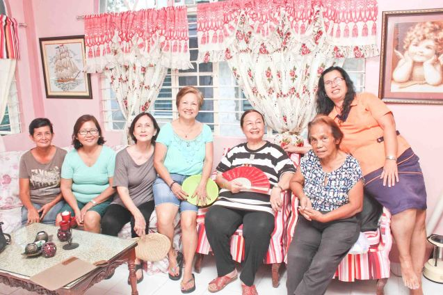 from right: Armi Gomez Rubia, Teli Gomez, Erlinda Bautista, Nanette Montenegro, Beth Javier, Rose Lizo and Annie Puyo; Claveria, Burias-May 18, 2015. Photo by Jude Bautista