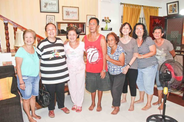 from left: Nanette Monetnegro, Erlinda Bautista, Norma Arce, Roger Arce, Teli Gomez, Beth Javier, Armi Gomez Rubia and Annie Puyo; Claveria, Burias-May 18, 2015. Photo by Jude Bautista