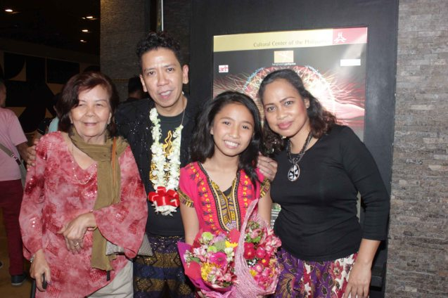 from left: Kanakan Balintagos, Leonie Calo Solito, Kyrie Samodio & Carol Bello. Kanakan Balintagos' MGA BUHAY NA APOY will run from Oct 2-25, 2015. The TANGHALANG PILIPINO production can be seen at the Tanghalang Aurelio Tolentino of the Cultural Center of the Philippines. Photo by Jude Bautista