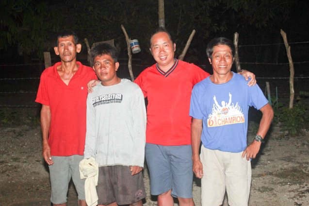 from left: Oking, Joey Agdon, Jude Bautista and Janito Agdon Sr. in Claveria, Burias Island-May 21, 2015.