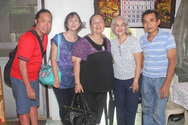 from left: Jude Bautista, Beth Javier, Erlinda Bautista, Lally Gomez Molina and Roger Molina in Naga City-May 21, 2015.