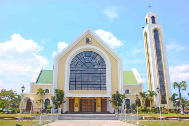 The modern façade of Our Lady of Peñafrancia Basilica in Naga City-May 21, 2015. Photo by Jude Bautista