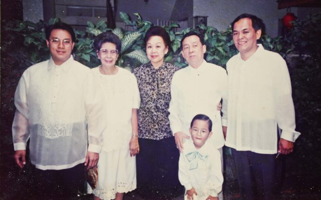 Early 90s from left: Dr. Donald Bautista, Lola Vita Leso, Lila B. Yang, Joe Bautista, George Apostol, that cute kid is JY Bautista who is now working as a Financial Advisor in New York.