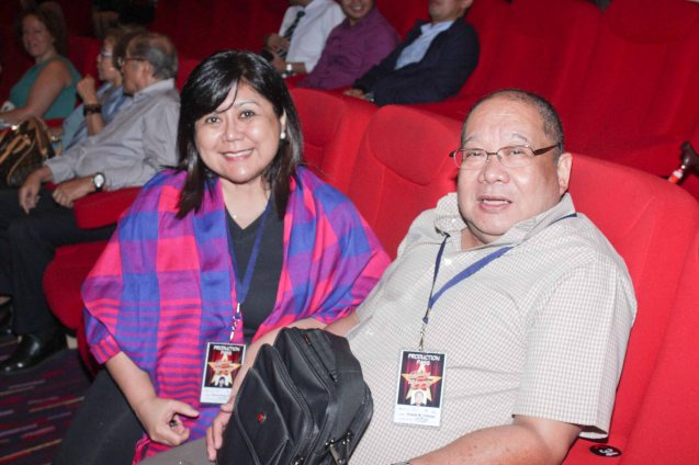 Ultimate Productions Media Affairs Cherry Bong Edralin and Dennis Villaluz. BITUING WALANG NINGNING is running at the Newport Performing Arts Theater, Resorts World Manila from October 8, 2015 to January 2016. Photo by Jude Bautista