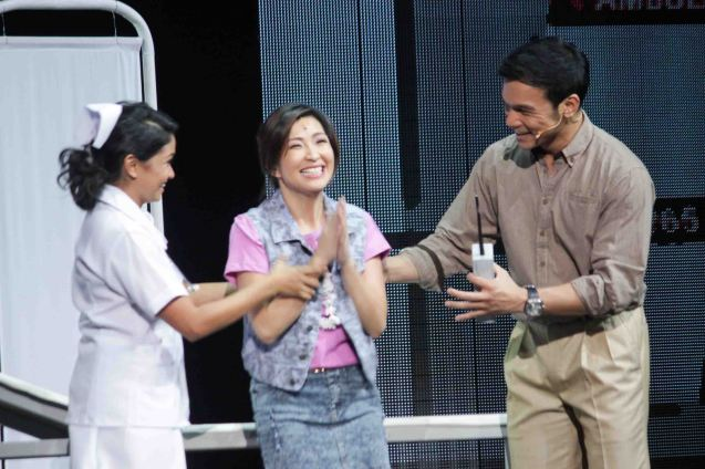 from left: Cara Barredo (Ensemble), Monica Cuenco (Dorina Pineda) and Mark Bautista (Nico Escobar). BITUING WALANG NINGNING is running at the Newport Performing Arts Theater, Resorts World Manila from October 8, 2015 to January 2016. Photo by Jude Bautista