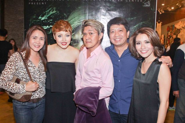 from left: Cynthia Guico, Cris Villonco, Vincent De Jesus, Lionel Guico & Giannina Ocampo. Photo was taken during TRIPLE THREATS series of Vincent De Jesus' DEMENTED, DELIGHTFUL, DERANGED DEJESUS last September 24, 2015 at the Tanghalang Aurelio Tolentino, CCP. Photo by Jude Bautista