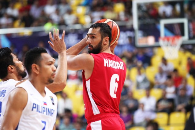 Lebanon's Haidar; SMART GILAS Pilipinas won against Lebanon 82-70, October 1, 2015 at the Changsha Social Work College, Chang Sha, China. Photo from FIBA.com.