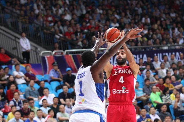 Abd El nour Lebanon's no.4; SMART GILAS Pilipinas won against Lebanon 82-70, October 1, 2015 at the Changsha Social Work College, Chang Sha, China. Photo from FIBA.com.