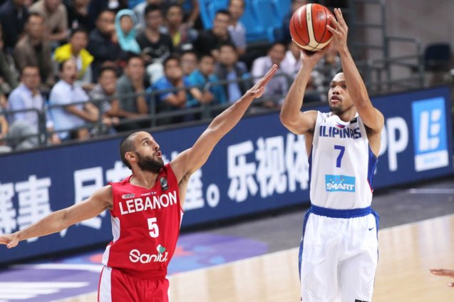 Jason Castro is SMART Gilas' cool-headed point guard. SMART GILAS Pilipinas won against Lebanon 82-70, October 1, 2015 at the Changsha Social Work College, Chang Sha, China. Photo from FIBA.com.