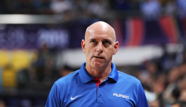 SMART Gilas coach Tab Baldwin; SMART GILAS Pilipinas won against Lebanon 82-70, October 1, 2015 at the Changsha Social Work College, Chang Sha, China. Photo from FIBA.com.