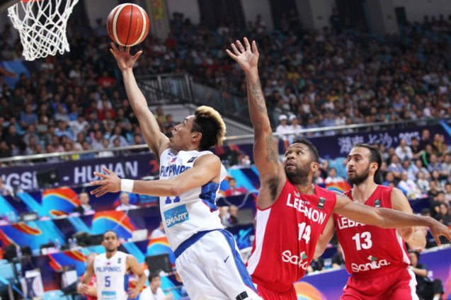Terence Romeo; SMART GILAS Pilipinas won against Lebanon 82-70, October 1, 2015 at the Changsha Social Work College, Chang Sha, China. Photo from FIBA.com.