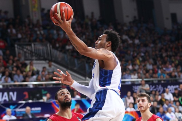 Calvin Abueva is energy off the bench; SMART GILAS Pilipinas won against Lebanon 82-70, October 1, 2015 at the Changsha Social Work College, Chang Sha, China. Photo from FIBA.com.