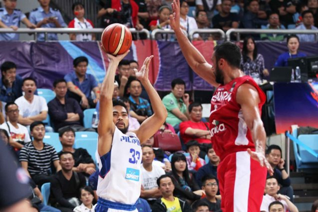 Ranidel De Ocampo has a great jumper for big man. SMART GILAS Pilipinas won against Lebanon 82-70, October 1, 2015 at the Changsha Social Work College, Chang Sha, China. Photo from FIBA.com.