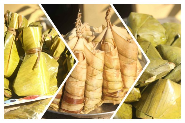 We tasted several kinds of suman, (sweet rice wrapped in fragrant leaves) in Burias Island. It's served mostly for breakfast and merienda- May 20, 2015. Photo by Jdue Bautista