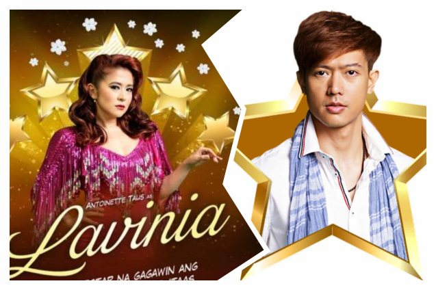 Antoinette Tauz (Lavinia Arguelles) & Ronnie Liang (Garrie Diaz). BITUING WALANG NINGNING is running at the Newport Performing Arts Theater, Resorts World Manila from October 8, 2015 to January 2016. Photo from Resort's World Manila site: http://www.rwmanila.com/web/bituing-walang-ningning/#