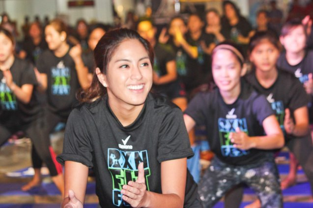 Celebs like Gretchen Ho of GAMEDAY WEEKEND enjoyed BARRE YOGA by PLANA FORMA. RXN FIT FEST was held at the SMX Convention Center last Nov 14, 2015. Photo by Jude Bautista