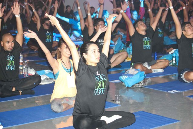 Celebs like Fashion writer Nicole Anderson enjoyed BARRE YOGA by PLANA FORMA. RXN FIT FEST was held at the SMX Convention Center last Nov 14, 2015. Photo by Jude Bautista
