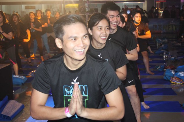 More and more guys are getting into Barre Yoga by PLANA FORMA. RXN FIT FEST was held at the SMX Convention Center last Nov 14, 2015. Photo by Jude Bautista