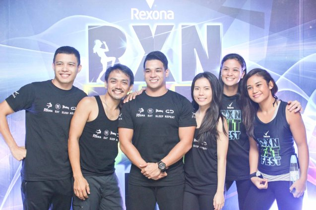 PLANA FORMA instructors from left: Phillip Pamintuan, Van Manalo, Clark Delariva, Cristin Gapasin, Iya Lagdameo and Roz Manlangit. RXN FIT FEST was held at the SMX Convention Center last Nov 14, 2015. Photo by Jude Bautista