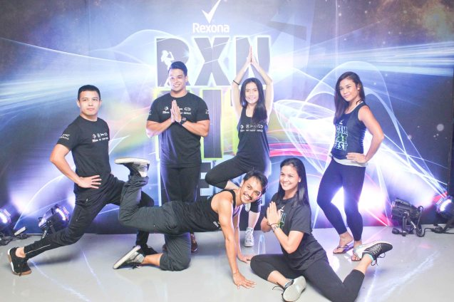 PLANA FORMA instructors foreground from left: Phillip Pamintuan, Van Manalo, Iya Lagdameo, background from left: Clark Delariva, Cristin Gapasin, and Roz Manlangit. RXN FIT FEST was held at the SMX Convention Center last Nov 14, 2015. Photo by Jude Bautista