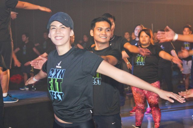 Celebs like Model & Videographer Janina Manipon enjoyed circuit training by 360 Fitness. RXN FIT FEST was held at the SMX Convention Center last Nov 14, 2015. Photo by Jude Bautista