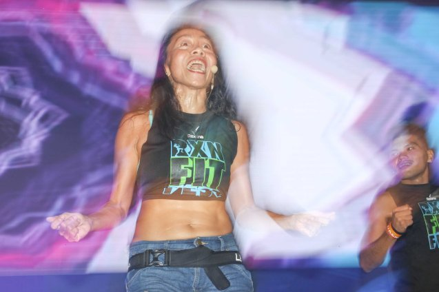 Fitness First Instructor Macel Haguisan; RXN FIT FEST was held at the SMX Convention Center last Nov 14, 2015. Photo by Jude Bautista