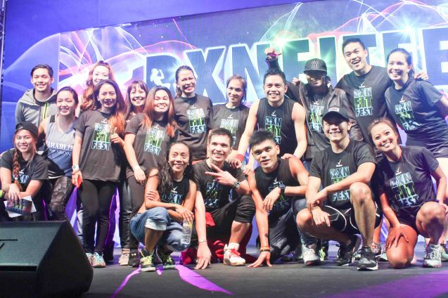 Fitness first instructors with 3 day pass raffle winners. RXN FIT FEST was held at the SMX Convention Center last Nov 14, 2015. Photo by Jude Bautista
