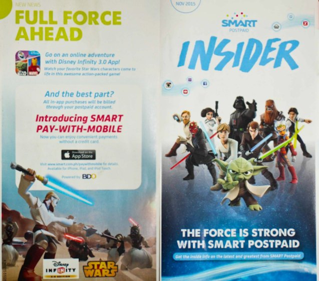 The Force is Strong with SMART Postpaid. Catch STAR WARS: THE FORCE AWAKENS in Newport Cinemas-Resort's World Manila, EASTWOOD City Mall, Lucky China Town Mall and Shang Rila Plaza mall.