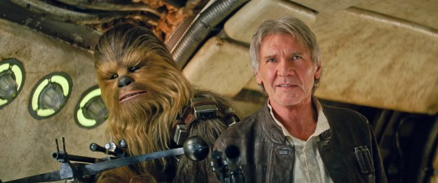 Harrison Ford (Han Solo) & Peter Mayhew (Chewbacca); Catch STAR WARS: THE FORCE AWAKENS in Newport Cinemas-Resort's World Manila, EASTWOOD City Mall, Lucky China Town Mall and Shang Rila Plaza mall.