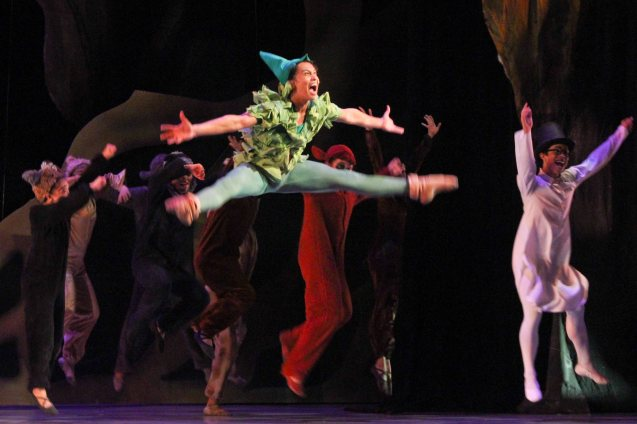 Jean Marc Cordero (Peter Pan); Ballet Philippines' Peter Pan runs from December 4-13, 2015 at the Tanghalang Nicanor Abelardo of the CCP. Photo by Jude Bautista