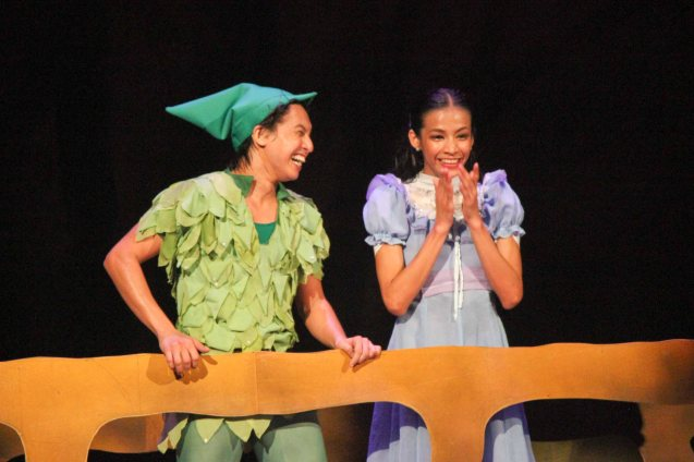 Jean Marc Coredero (Peter Pan) & Rita Angela Winder (Wendy); Ballet Philippines' Peter Pan runs from December 4-13, 2015 at the Tanghalang Nicanor Abelardo of the CCP. Photo by Jude Bautista